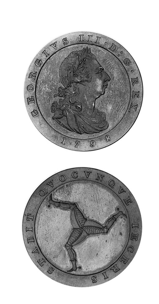 Penny, 1798 (3), laureate bust