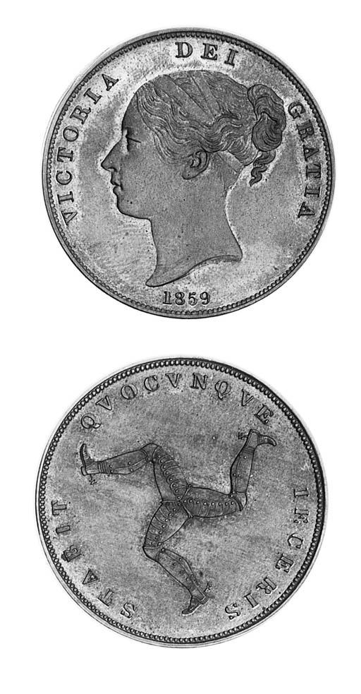 Victoria, Pattern Penny, 1859,