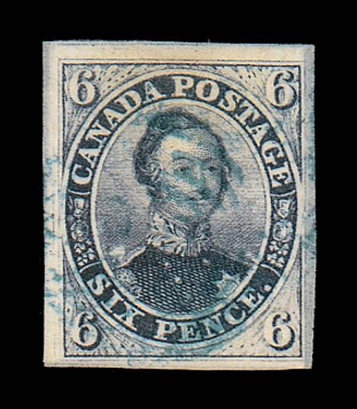 used  6d. slate-violet with la
