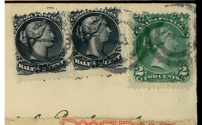 cover ½c. pair and 2c. yellow-