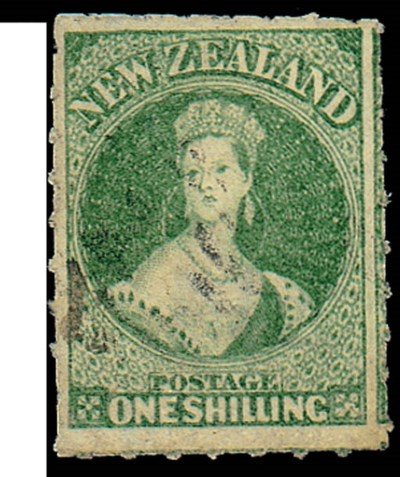 used  -- 1/- green with roulet