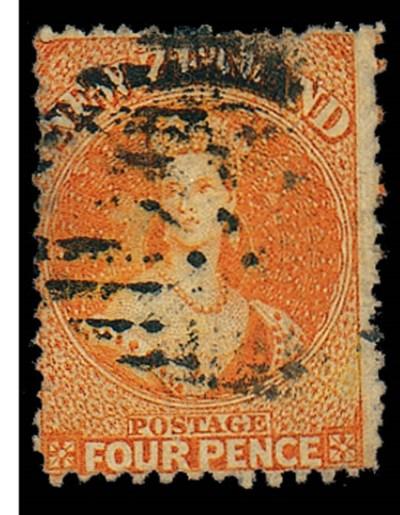 used  4d. orange with indistin