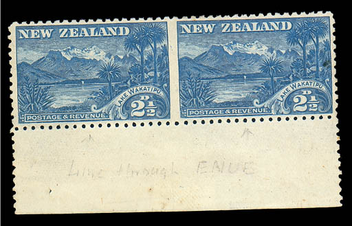 unused  2½d. blue marginal pai