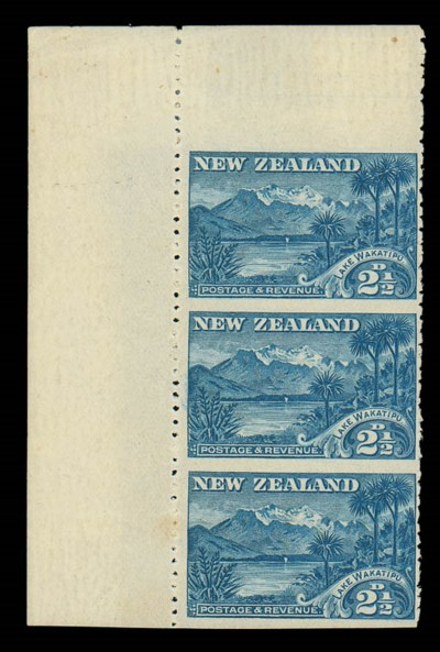 unused  2½d. blue upper left c