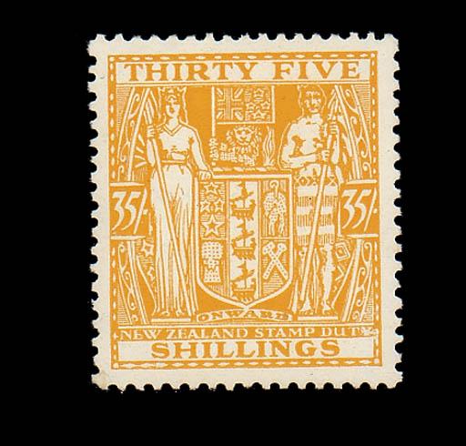 unused  -- 35/- orange-yellow,