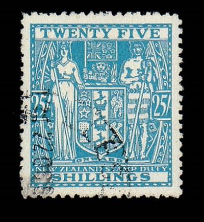 used  -- 25/- greenish blue, f