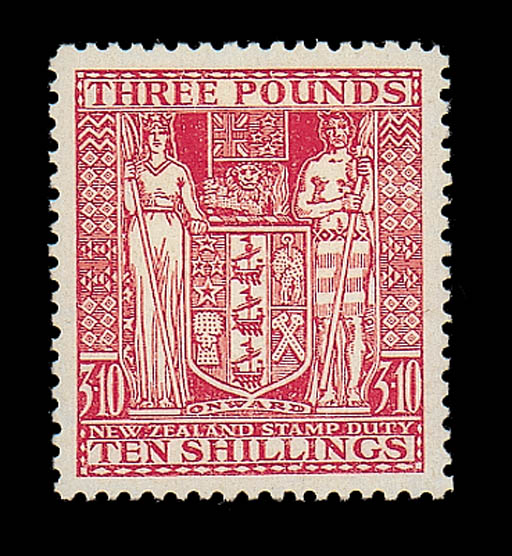 unused  -- £3.10s. rose with inverted watermark, fine mint. Scarce. S.G. F209w, £1,600. Photo