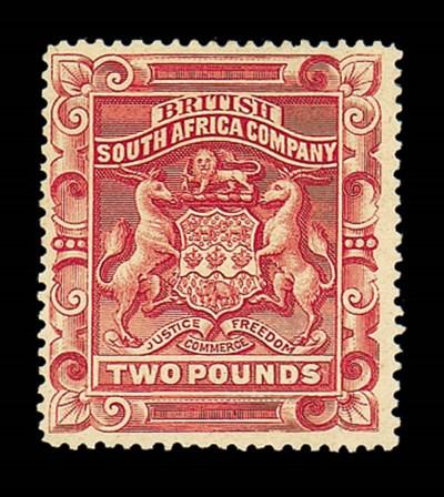 unused  1897 (Jan.) £2 rosy re