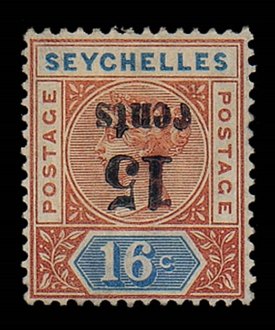unused  15c. on 16c. Die II, v