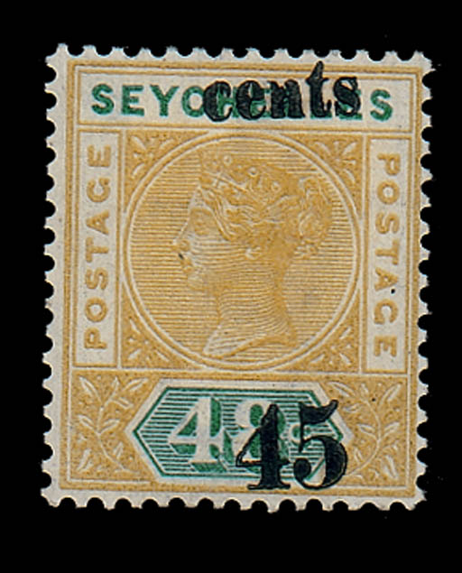 unused  45c. on 48c. showing g