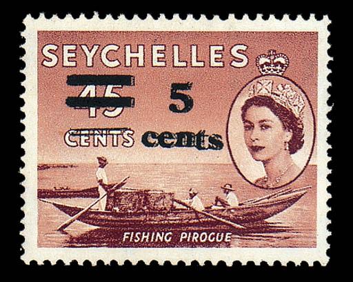 unused  1957 (Sept.) 5c. on 45