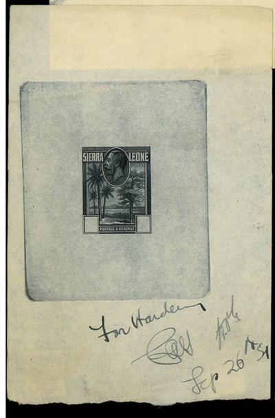 Proof  1932 2/-/£1 master die