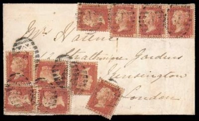 cover 1872 envelope addressed