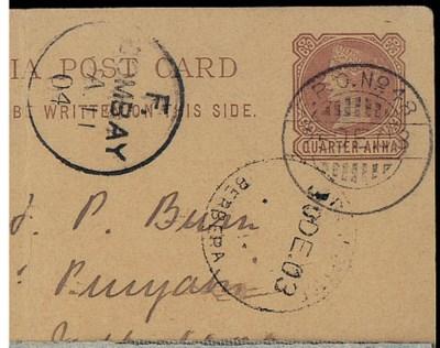 cover 1903 (25 Dec.) ¼a. stati