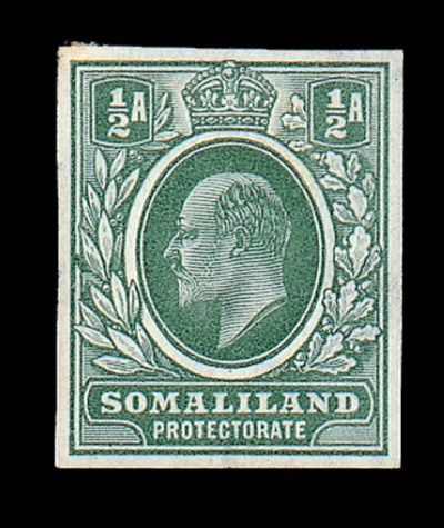 Proof  1904 ½a. imperforate co