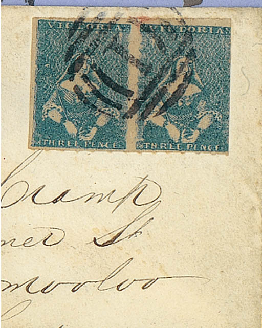 cover 3d. blue pair (Campbell