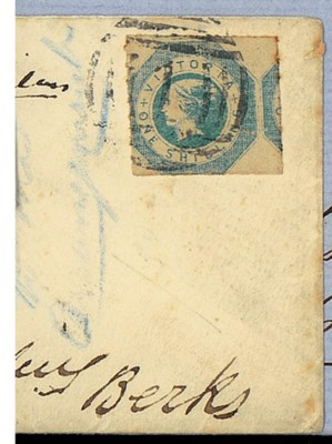 cover -- 1/- blue with roulett