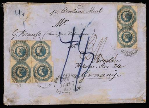 cover Imperforate, six singles
