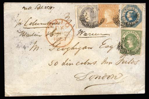 cover 1857 (22 July) envelope