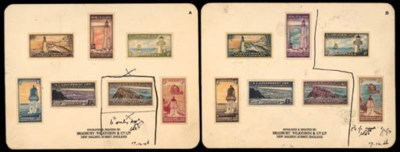 Proof  1947 issue, two sets of