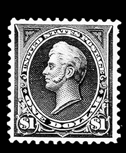$1.00 Black type II (276A), un