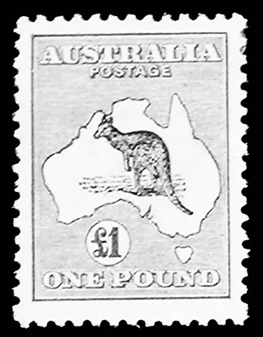 Australia, 1913, ½p-£1 Kangaro