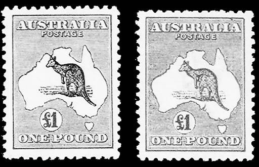 1915-24, 2p-£1 Kangaroos (45-5