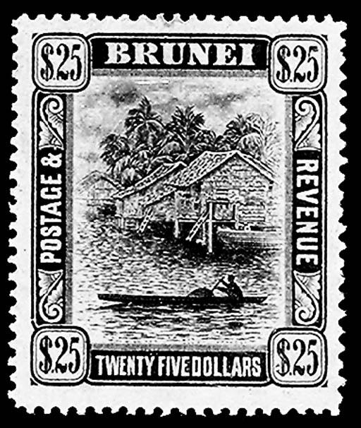 Brunei, 1908, $25.00 Black on