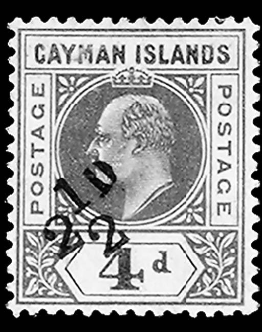 Cayman Islands, 1908, 2½p on 4