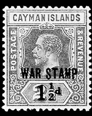 --, 1917, 1½p on 2½p Ultramari