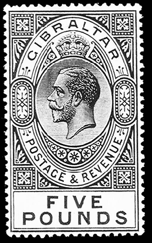 --, 1921, £5 Dull Violet & Bla