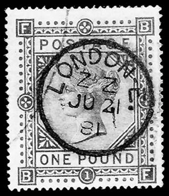 1878, £1 Brown Lilac (75, Gibb