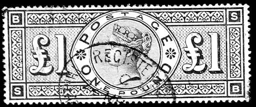 1888, £1 Brown Violet, wmk. th