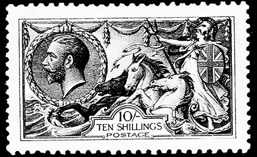 1913-19, 2sh-10sh Seahorses (1