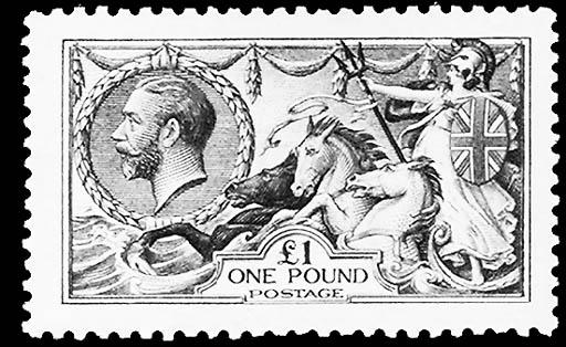 1913, £1 Green (176, Gibbons 4