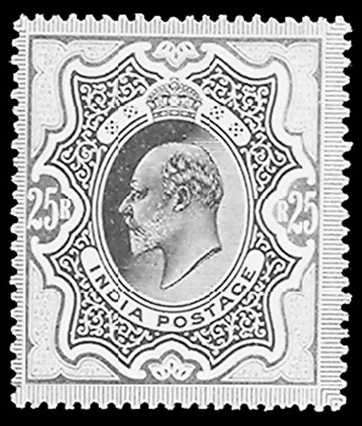 India, 1902-09, 2r-25r King Ed