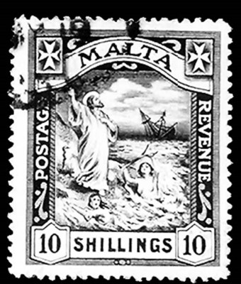 Malta, 1919, 10sh Black (65, G