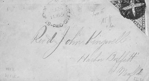 Newfoundland, 1860, 3p Green (