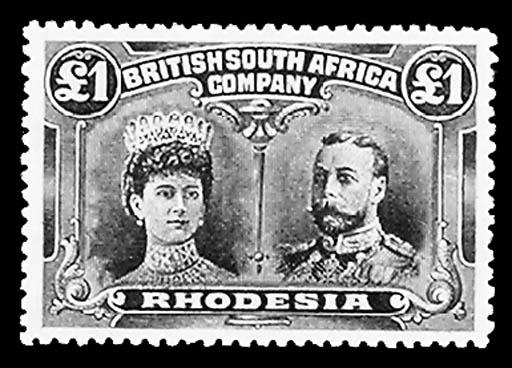 1910, £1 Bluish Black & Carmin