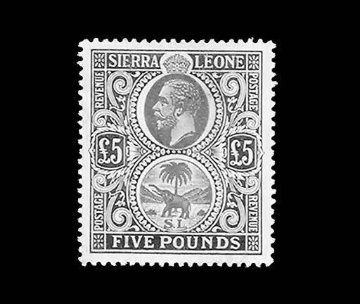 --, 1912, £5 Gray Green & Oran