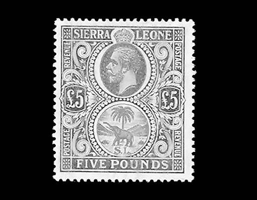 --, 1921, £5 Gray Green & Oran