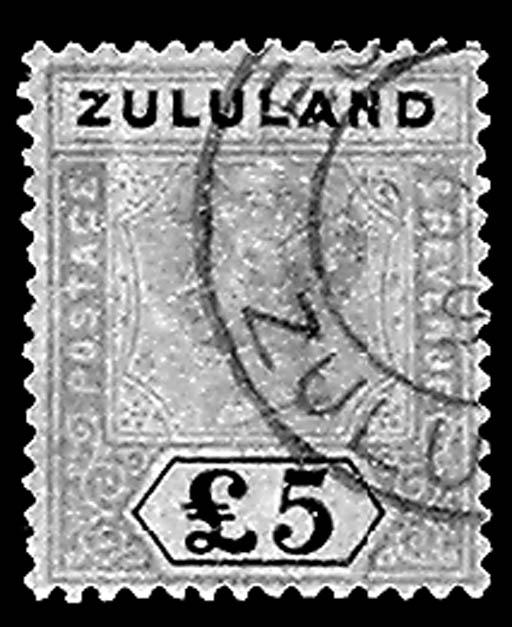 --, 1894, £5 Violet & Black on