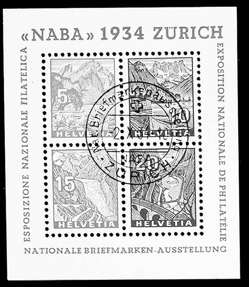 1934, 5c-20c NABA souvenir she