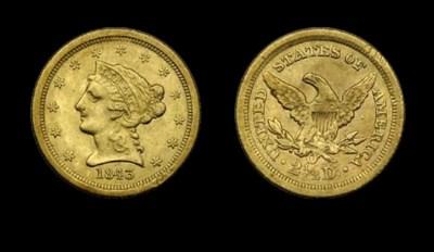 $2½, 1843-O Small Date, Crossl