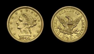 $2½, 1845 EF-45 (PCGS).    Ver