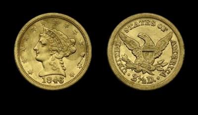 $2½, 1846 EF-40 (PCGS).    Att