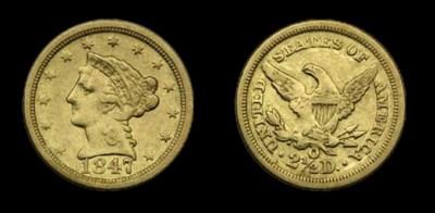 $2½, 1847-O EF-40 (PCGS).    P