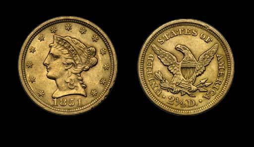 $2½, 1851 AU-58 (PCGS).    A w