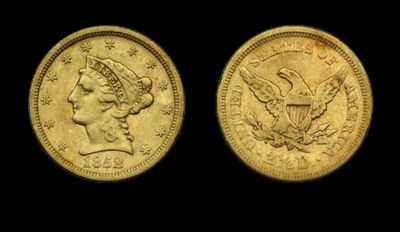 $2½, 1852 VF-30 (PCGS).    Pal