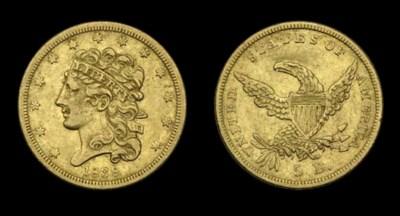 $5, 1838 Breen-6515. Small Arr